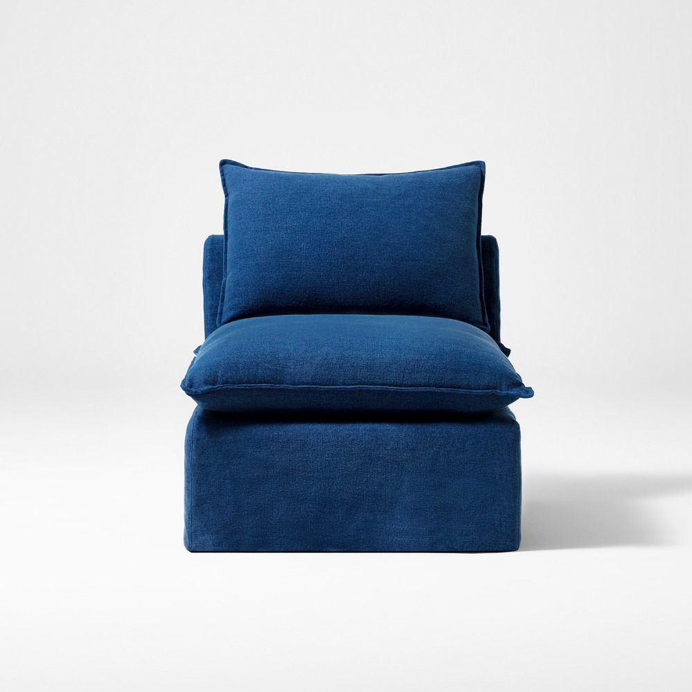 MERCI LINEN SOFA NAVY SINGLE