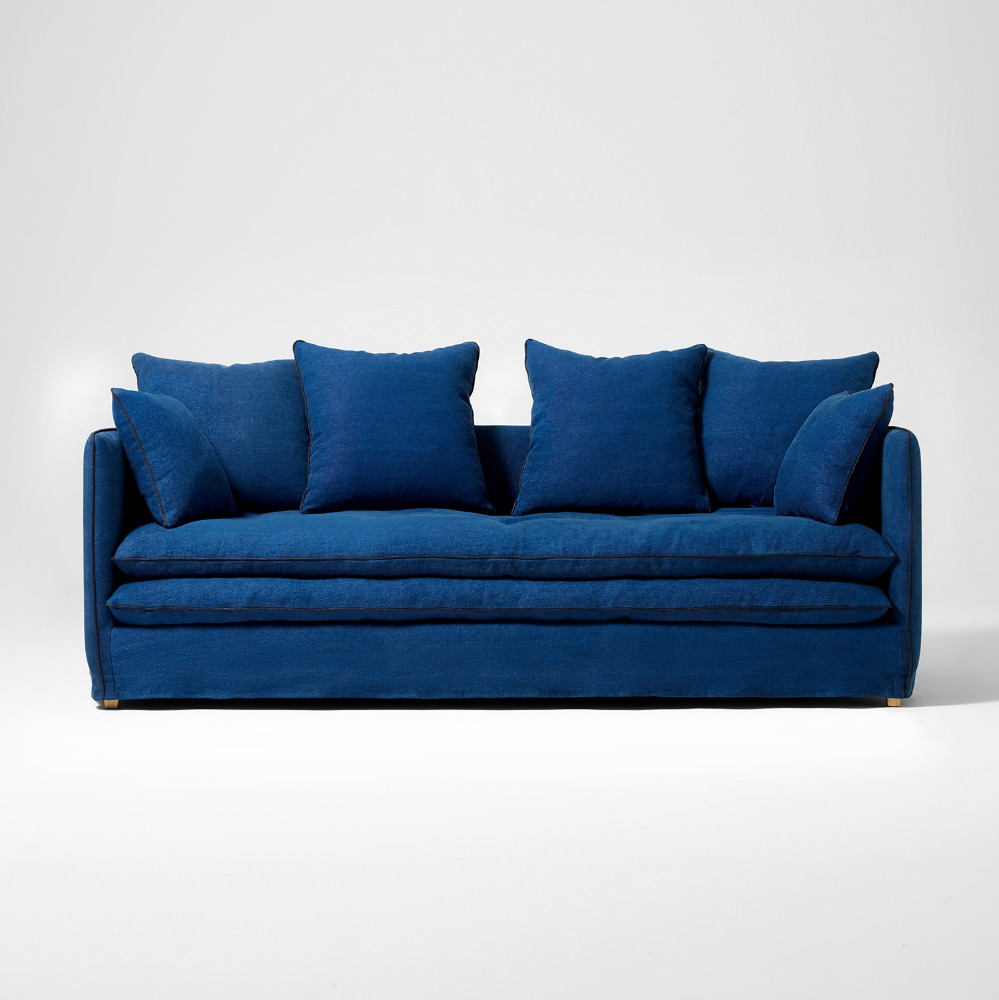 MERCI LINEN SOFA NAVY