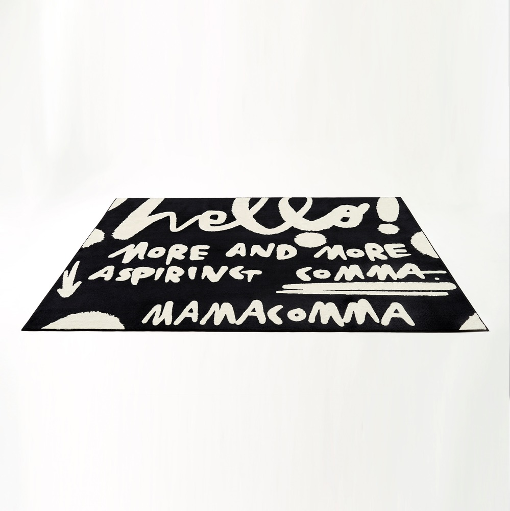 MAMACOMMA RUG BLACK(RECTANGLE)